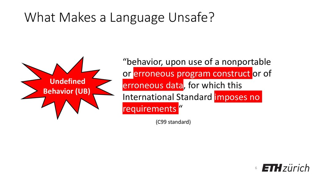 What Makes a Language Unsafe? 6 Undefined Behav...