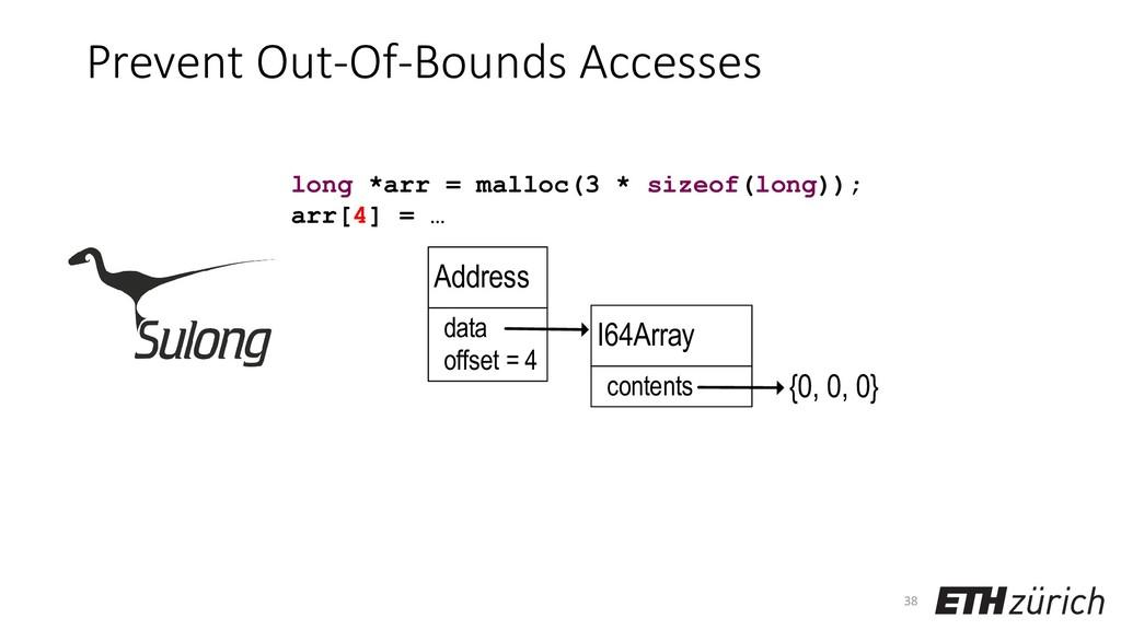 Prevent Out-Of-Bounds Accesses 38 long *arr = m...