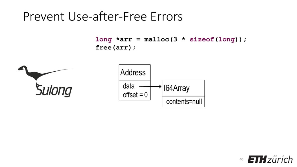 Prevent Use-after-Free Errors 40 long *arr = ma...