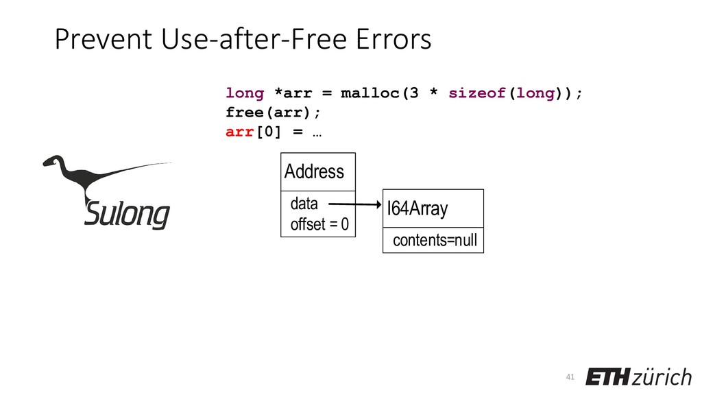 Prevent Use-after-Free Errors 41 long *arr = ma...