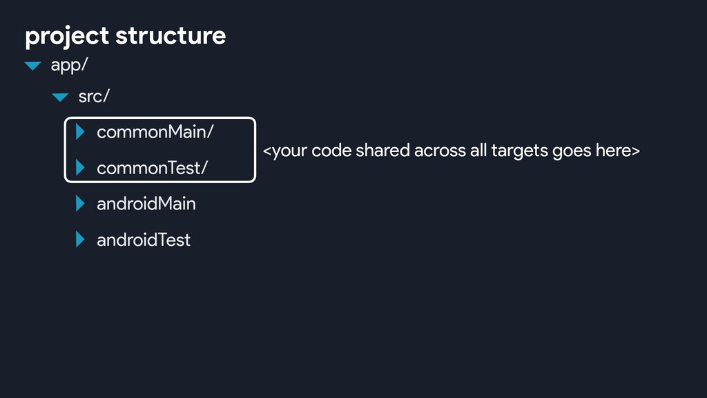 androidMain androidTest project structure <your...