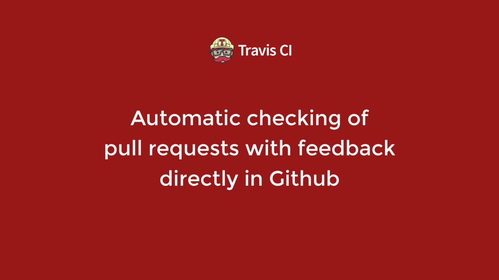 Automatic checking of  pull requests with feed...
