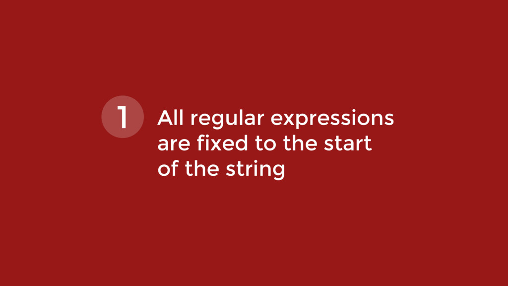All regular expressions  are fixed to the star...