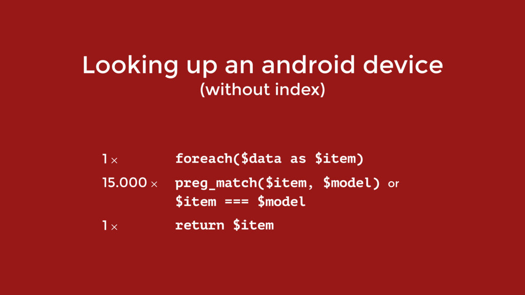 Looking up an android device (without index) 1 ...