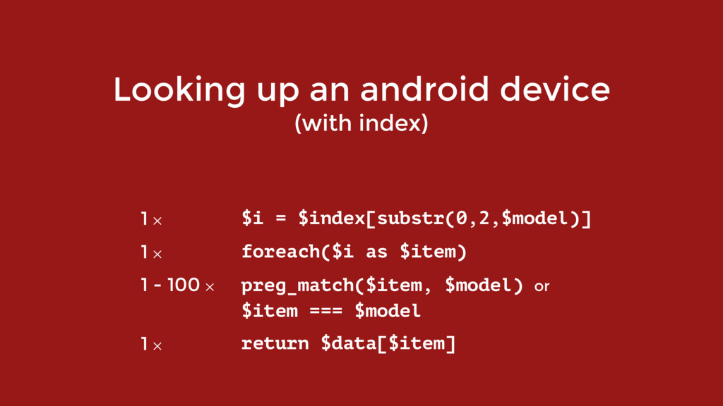Looking up an android device (with index) 1 ✕ $...