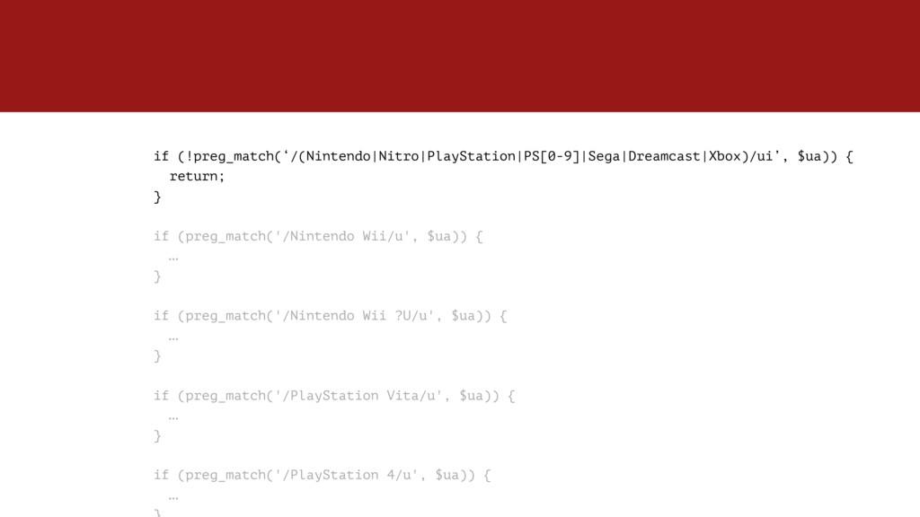 if (!preg_match('/(Nintendo Nitro PlayStation P...