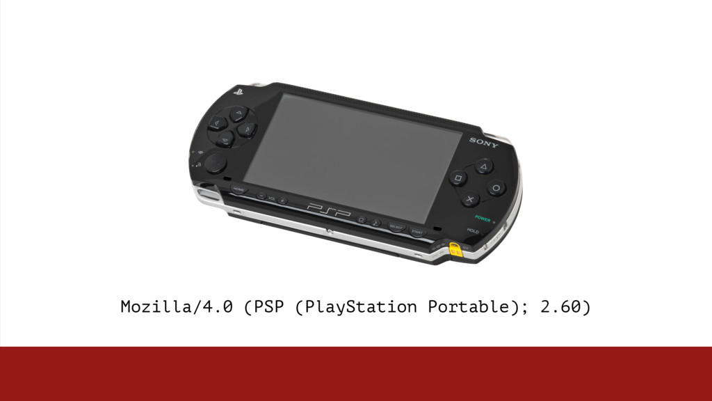 Mozilla/4.0 (PSP (PlayStation Portable); 2.60)