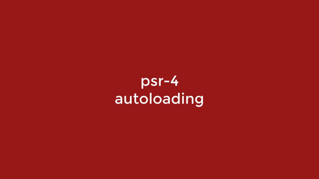 psr-4 autoloading