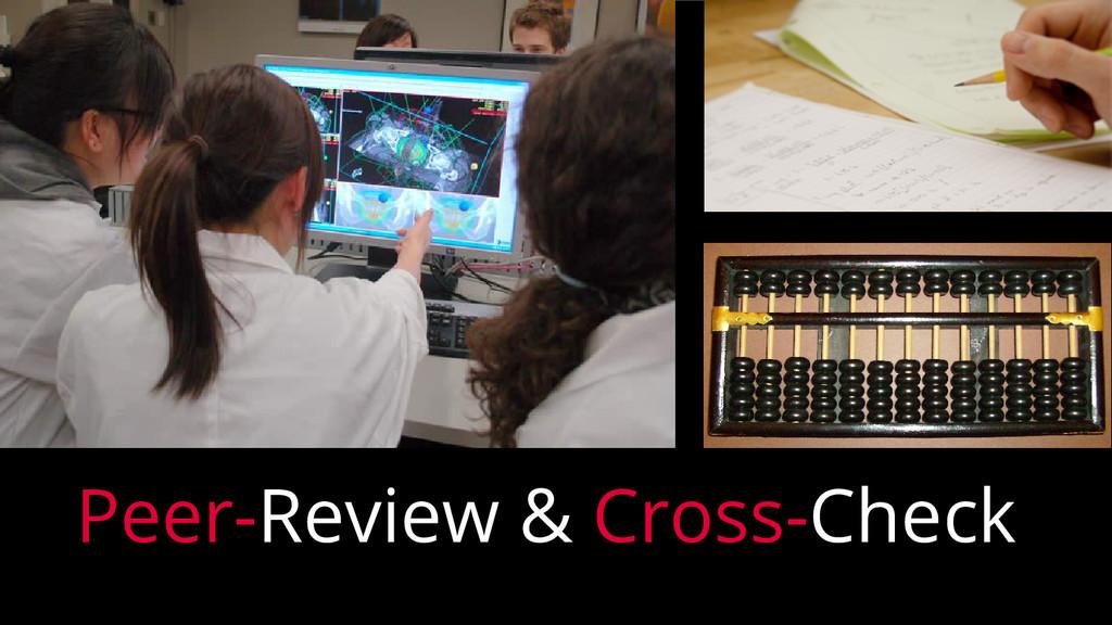 Peer-Review & Cross-Check