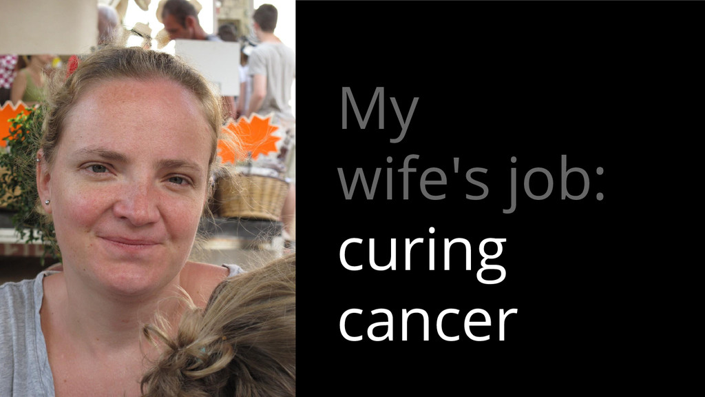 My wife's job: curing cancer