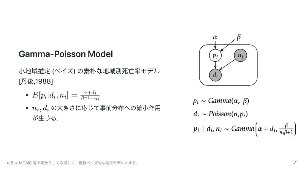 Gamma-Poisson Model ⼩地域推定 (ベイズ) の素朴な地域別死亡率モデル 丹...