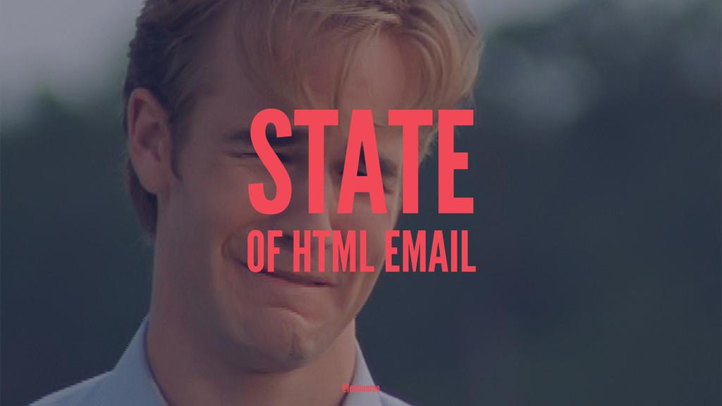 STATE OF HTML EMAIL @leemunroe