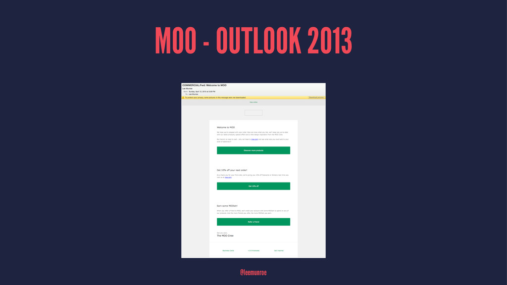 MOO - OUTLOOK 2013 @leemunroe
