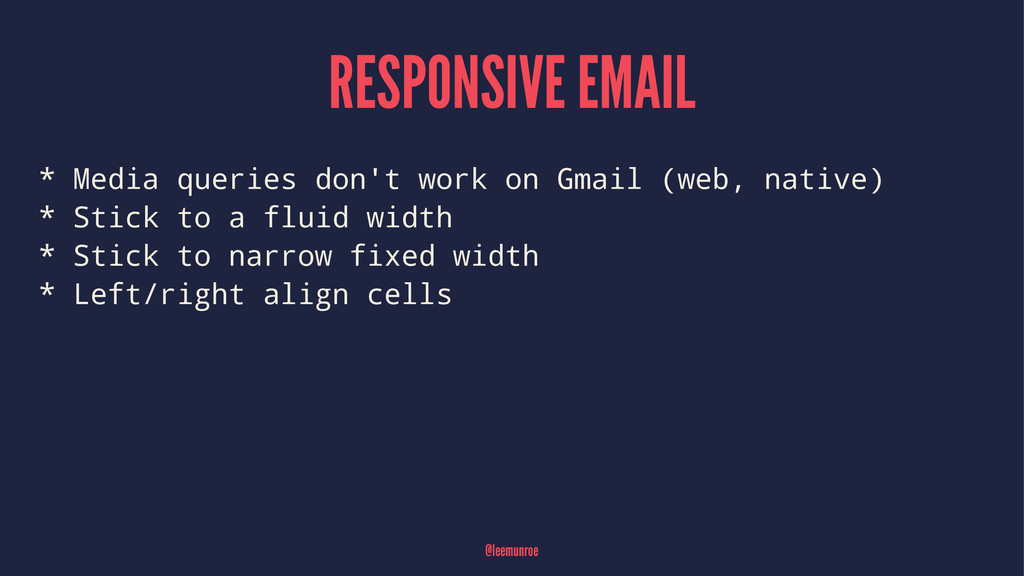 RESPONSIVE EMAIL * Media queries don't work on ...