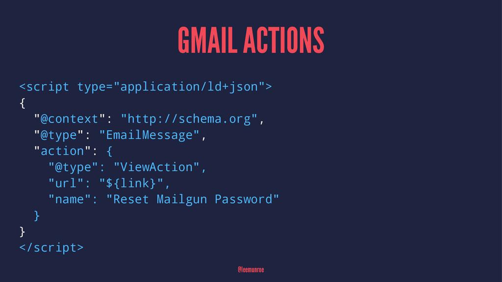 "GMAIL ACTIONS <script type=""application/ld+json..."