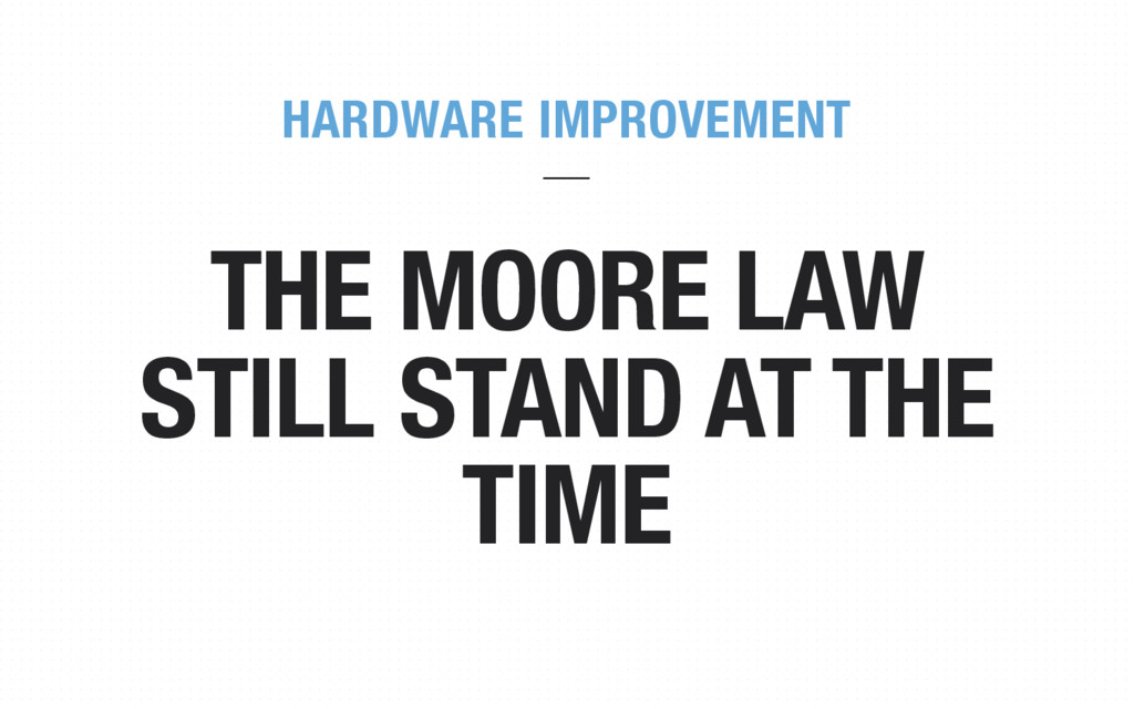 THE MOORE LAW STILL STAND AT THE TIME HARDWARE ...