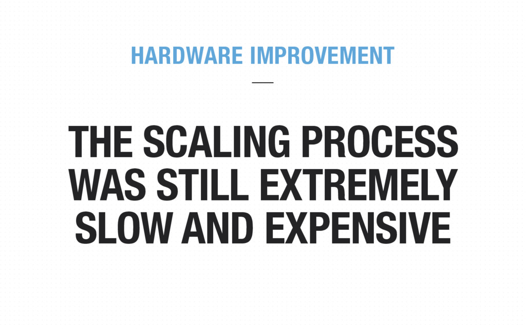 THE SCALING PROCESS WAS STILL EXTREMELY SLOW AN...