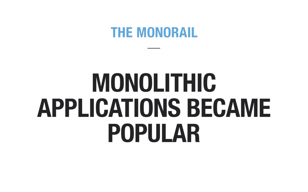 MONOLITHIC APPLICATIONS BECAME POPULAR THE MONO...