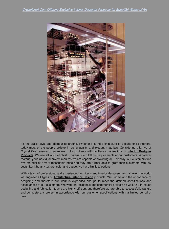 Crystalcraft.Com Offering Exclusive Interior De...