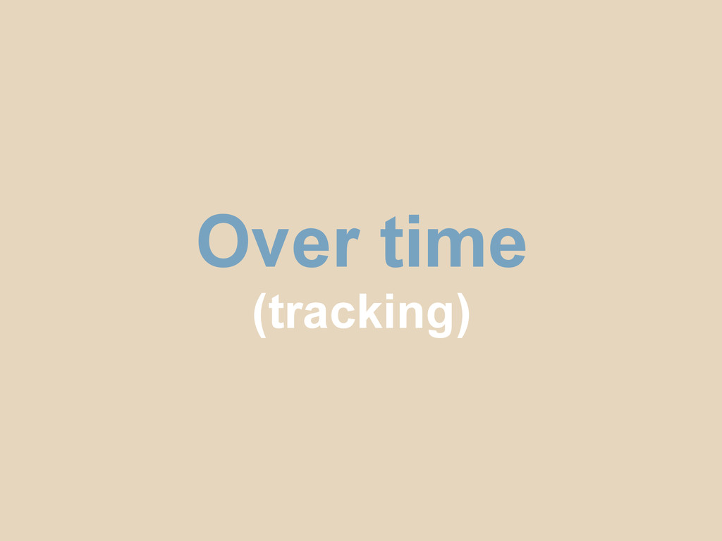 Over time (tracking)