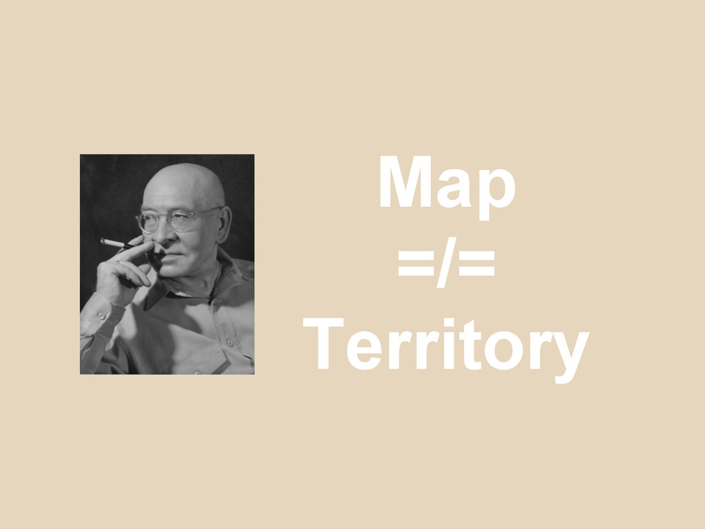 Map =/= Territory