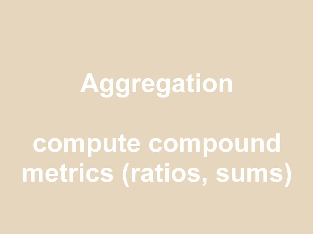 Aggregation compute compound metrics (ratios, s...