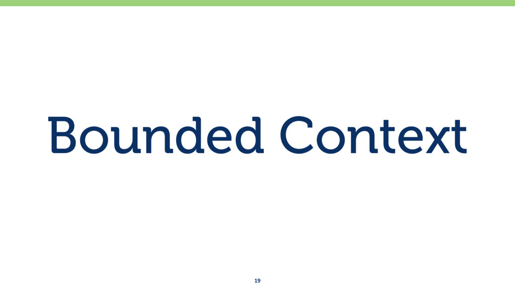 Bounded Context 19