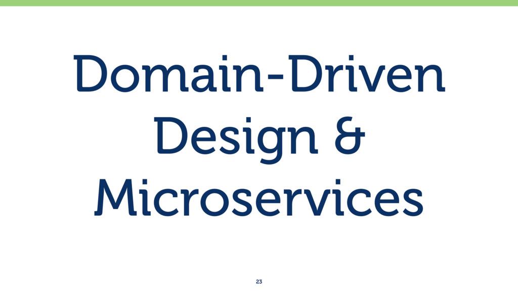 Domain-Driven Design & Microservices 23
