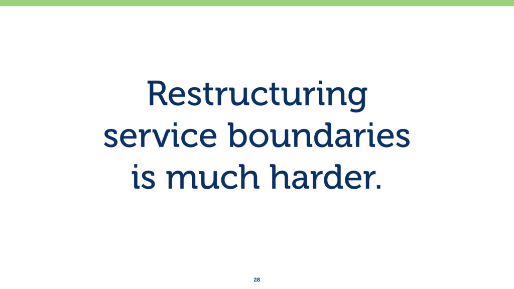 Restructuring service boundaries is much hard...