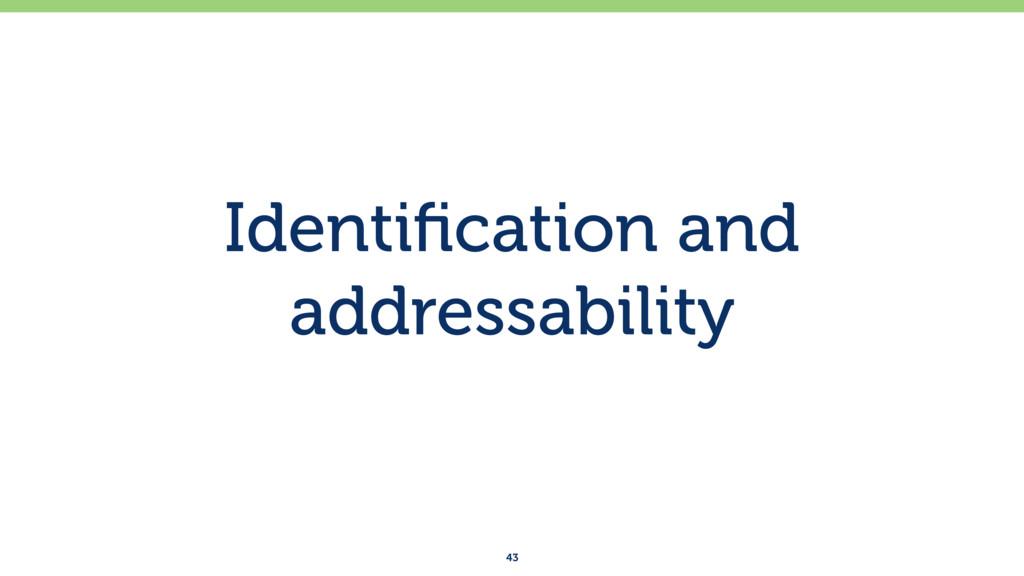 Identification and addressability 43