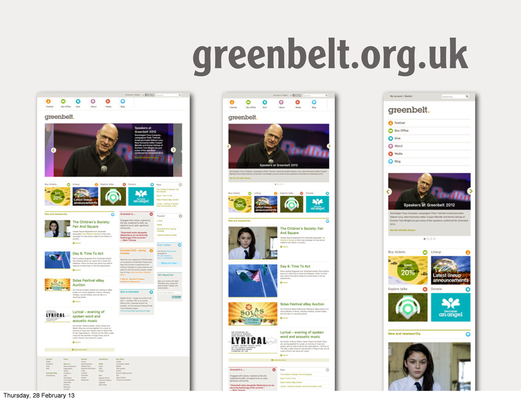 greenbelt.org.uk Thursday, 28 February 13