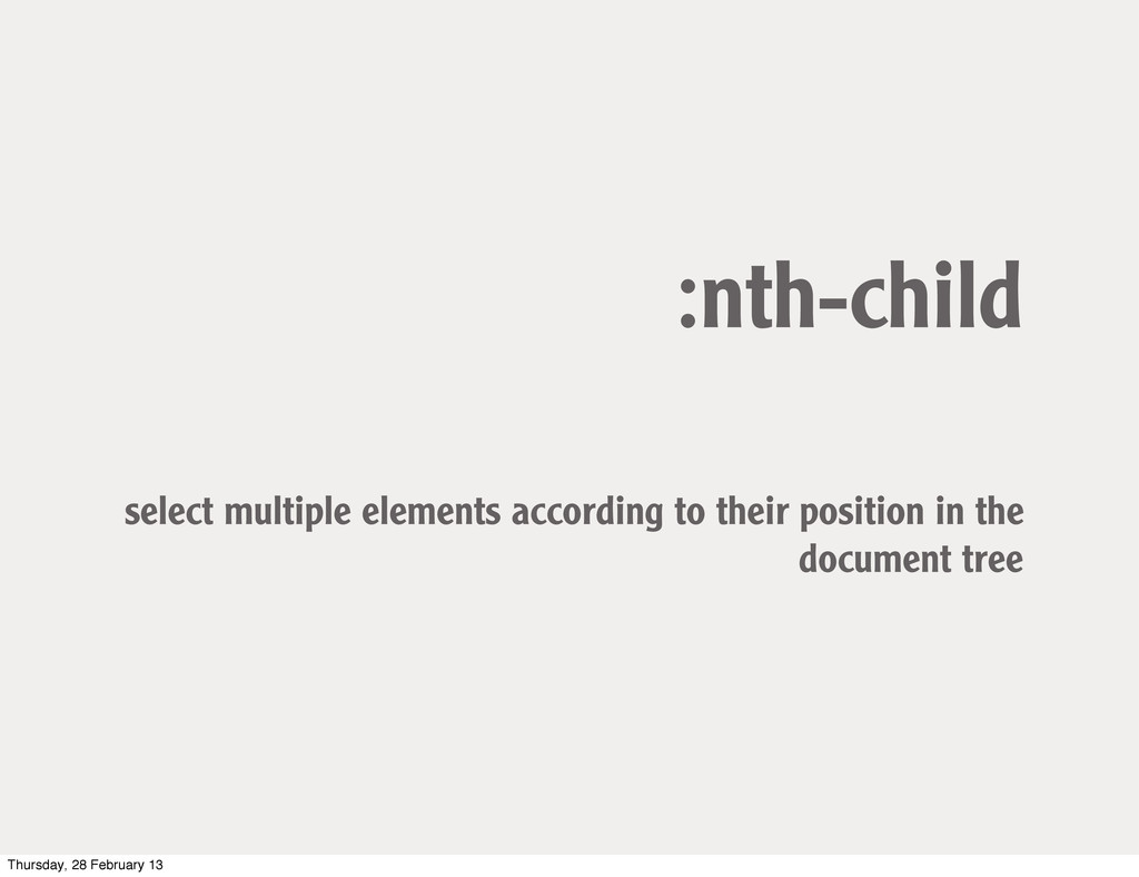:nth-child select multiple elements according t...