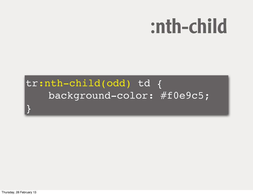 tr:nth-child(odd) td { ! ! background-color: #f...