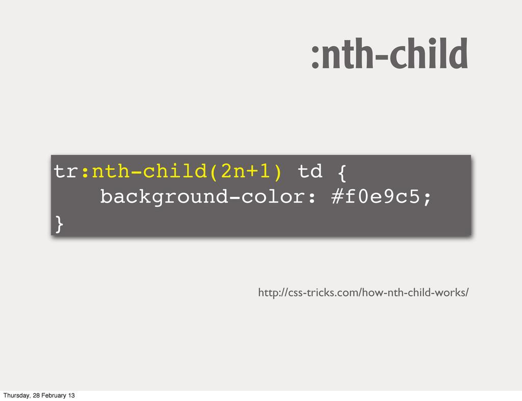 tr:nth-child(2n+1) td { ! ! background-color: #...