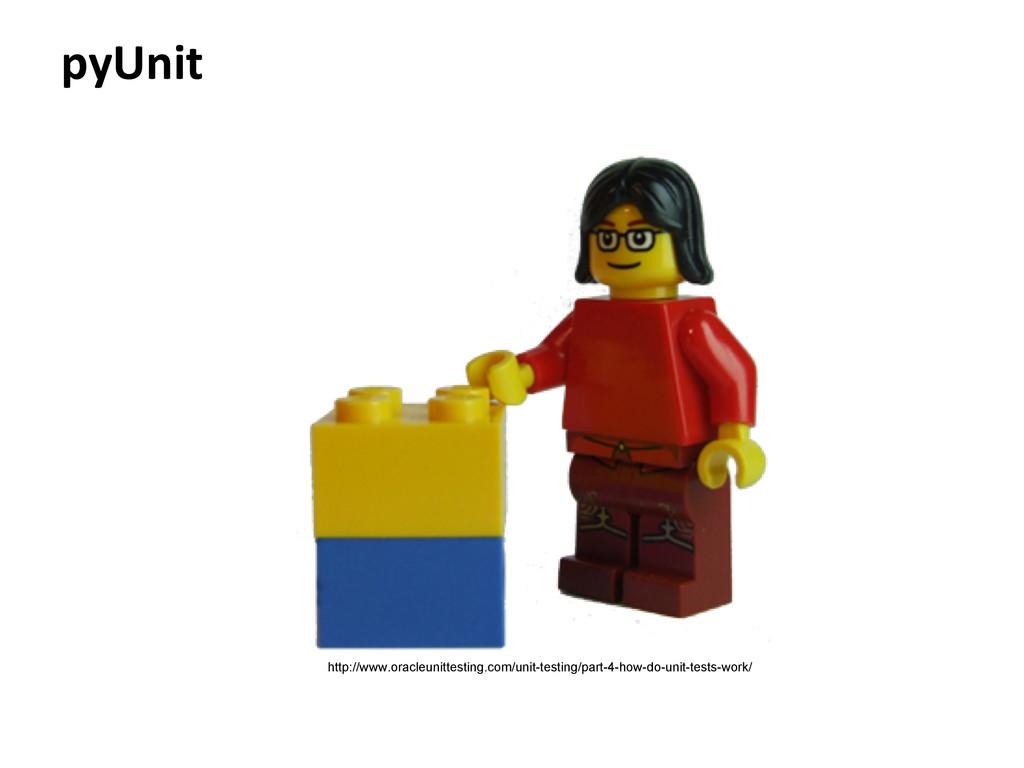 pyUnit http://www.oracleunittesting.com/unit-te...