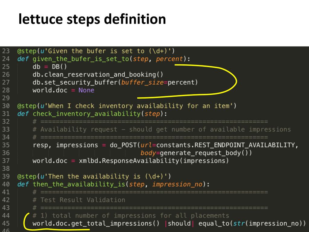 lettuce steps definition