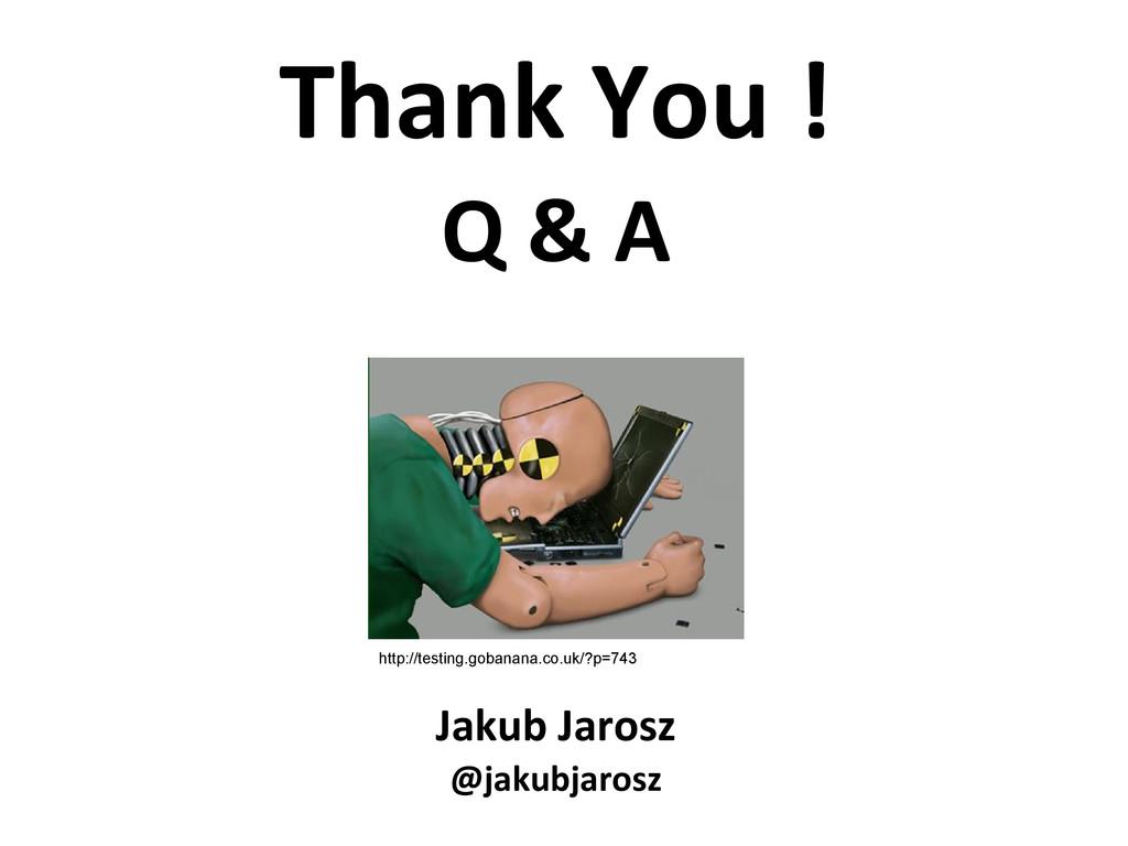 Jakub Jarosz @jakubjarosz http://testing.gobana...