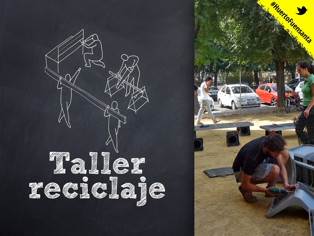 Taller reciclaje #HuertoFuensanta t