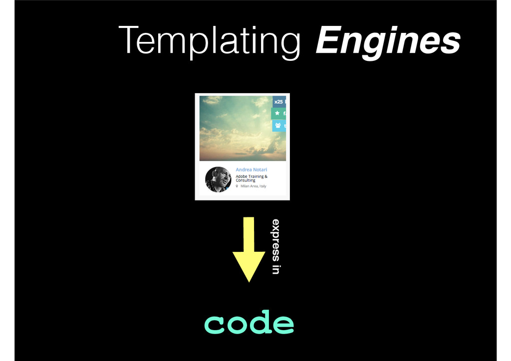 Templating Engines code express in
