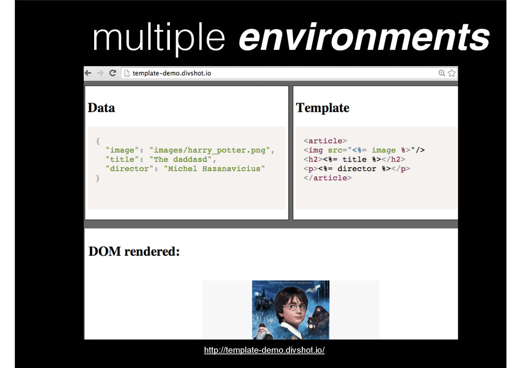 multiple environments http://template-demo.divs...