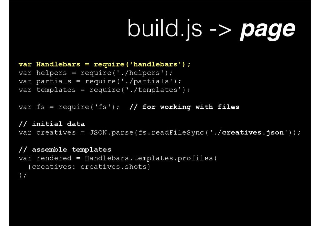 build.js -> page var Handlebars = require('hand...