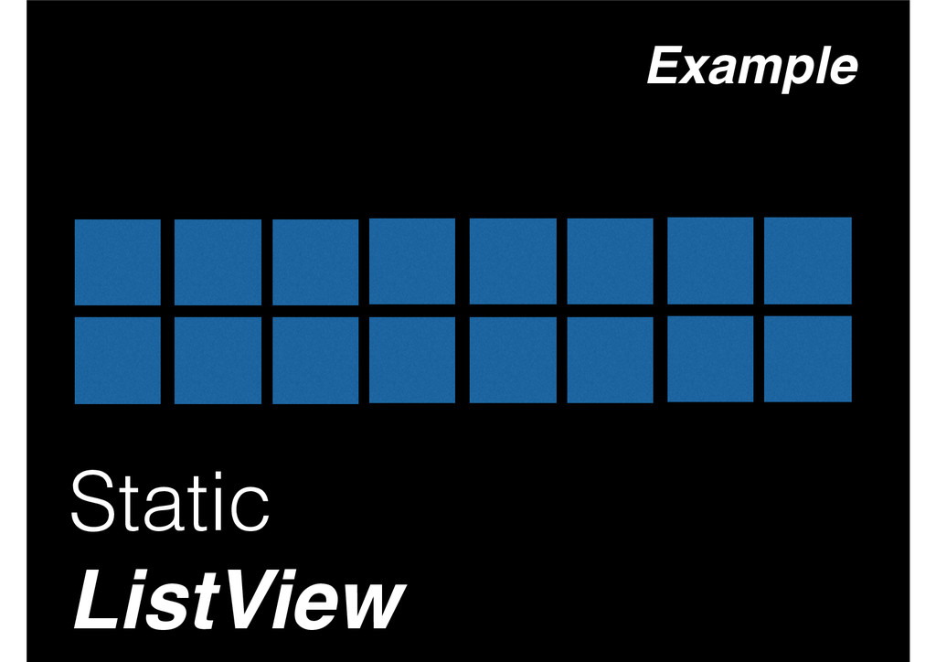 Static ListView Example