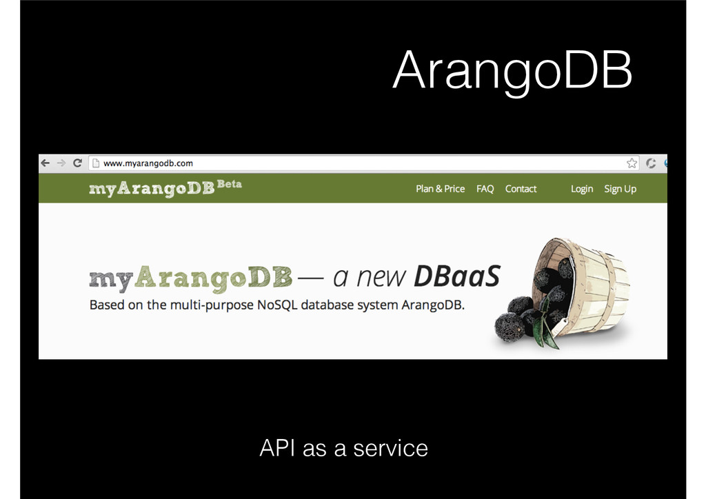 ArangoDB API as a service