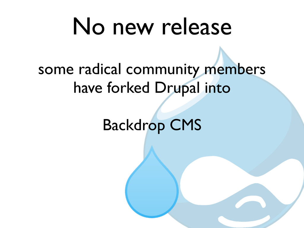No new release some radical community members h...