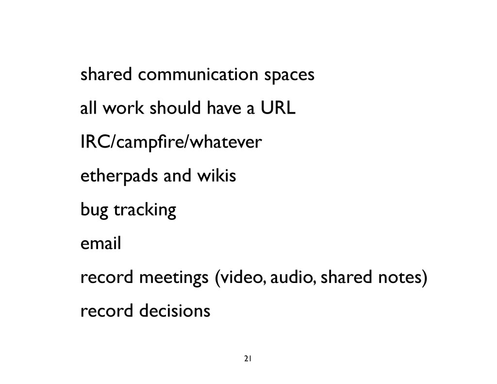 shared communication spaces all work should hav...