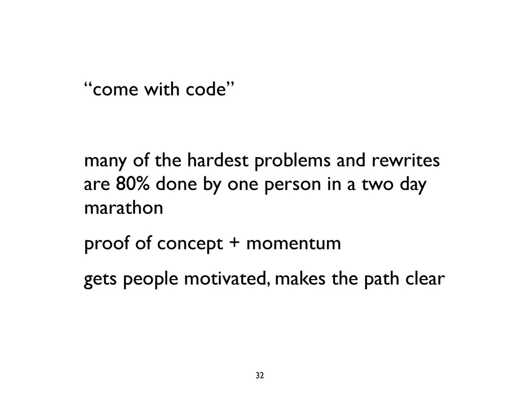 """come with code"" many of the hardest problems a..."