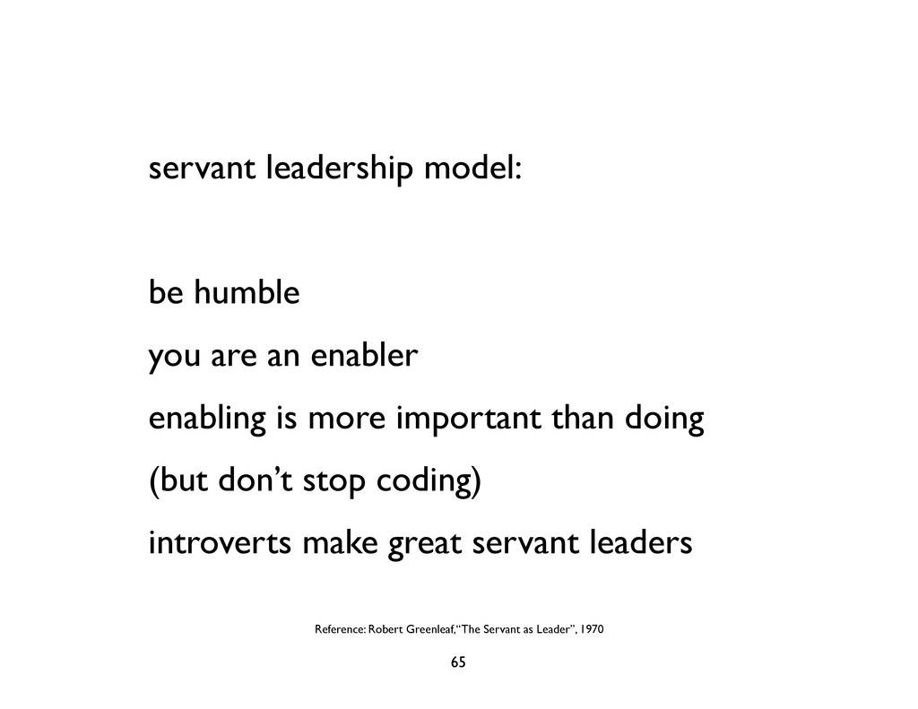 servant leadership model: be humble you are an ...