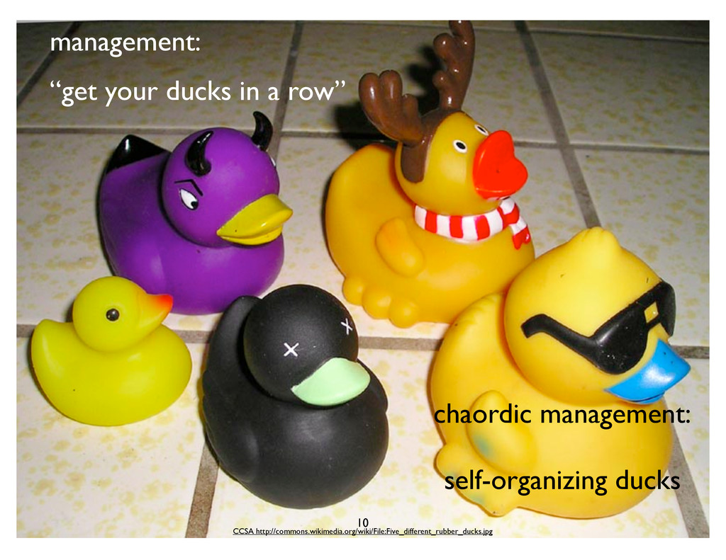 "management: ""get your ducks in a row"" chaordic ..."