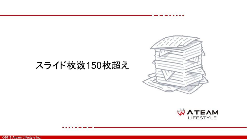 ©2018 Ateam Lifestyle Inc. スライド枚数150枚超え