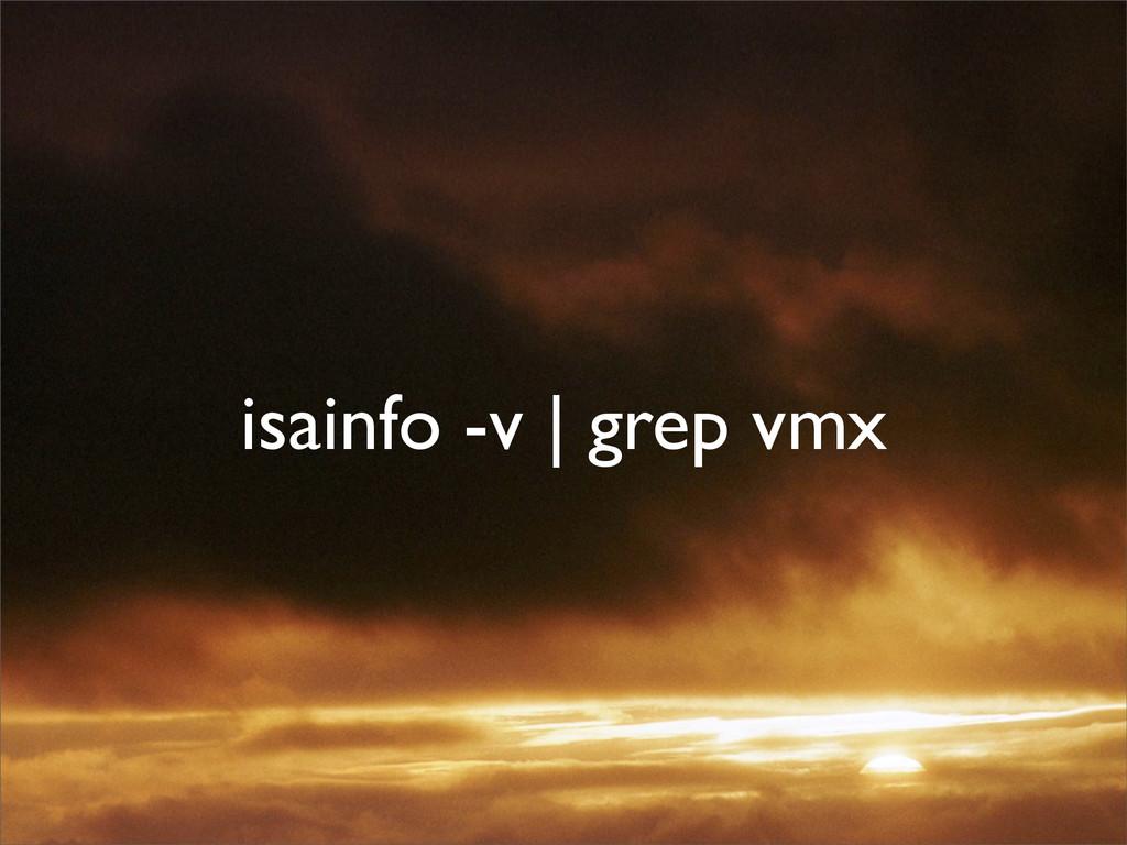 isainfo -v | grep vmx